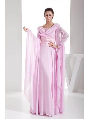 Lanting Bride® Plesové šaty Šaty pro matku nevěsty Na zem Šifón - Korálky