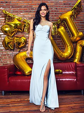 구슬과 TS couture® 공식적인 이브닝 드레스 트럼펫 / 인어 특종 청소 / 브러쉬 기차 쉬폰