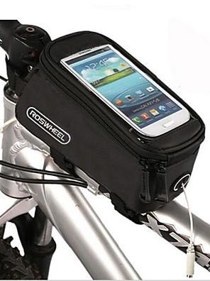 תיק אופניים 1.5LLתיקים למסגרת האופניים מונע החלקה / רב תכליתי / מסך מגע תיק אופניים פי וי סי / Terylene תיק אופנייםמספרי טלפון גודל דומים