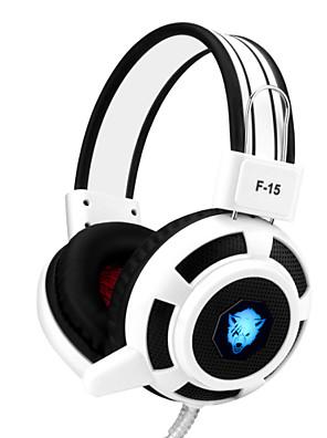 Yoro F15 gaming headset stereo støjreducerende med mikrofon&volumenkontrol førte lys for pc / notebook / laptop