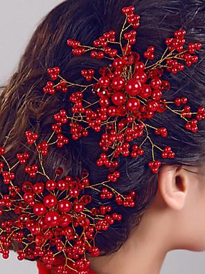 kvinders perle blomst hår smykker kamme til bryllupsfest