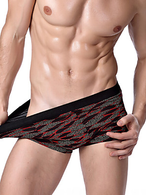 Men's Plus Size Print Boxer Briefs Underwear (L-XXXL)