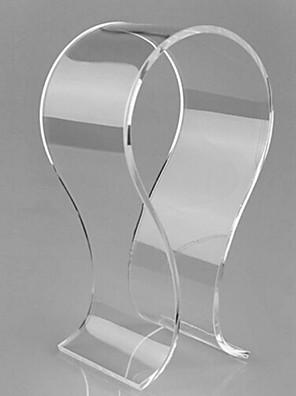 Populární akrylový materiál stojan pro sluchátka tranparent