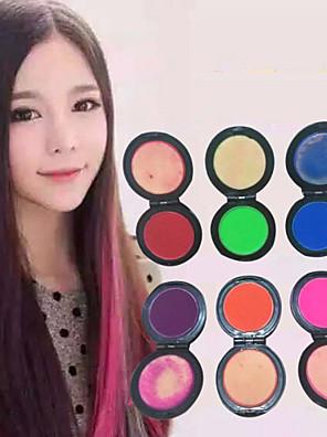 6 kleuren tijdelijk haar krijt poeder pastel haarverf kleurstof zachte pastels salon partij kerst diy