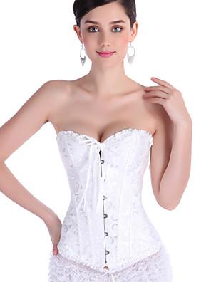 Ženy Korzet / Větší velikosti Noční prádlo Sexy / Push-up podprsenky Žakár-Polyester Dámské