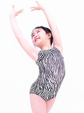 בלט בגדי גוף בגדי ריקוד נשים / בגדי ריקוד ילדים ביצועים Chinlon / נצנצים / לייקרה נצנצים חלק 1 בלי שרוולים טבעי Leotard As the size chart