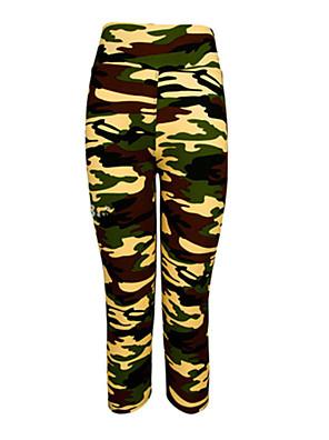Corrida Leggings / Calças / 3/4 calças justas / Fundos Mulheres Secagem Rápida / Vestível / Compressão / Resistente ao Choque Elastano