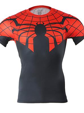 Arsuxeo® חולצת ג'רסי לרכיבה לגברים שרוול קצר אופניים נושם / ייבוש מהיר / דחיסה / חומרים קלים / מגביל חיידקים / נמתח לארבעה כיוונים / רך