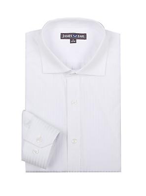 JamesEarl Herre Krave Langt Ærme Shirt & bluse Ivory - DA112030725