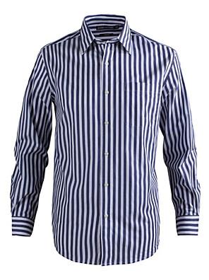 JamesEarl Heren Overhemdkraag Lange mouw Shirt & Blouse Bruin - MC1ZC001667