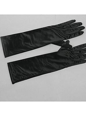 Ellebooglengte Vingertoppen Handschoen Satijn / Stretchsatijn Bruidshandschoenen / Feest/uitgaanshandschoenen / WinterhandschoenenLente /