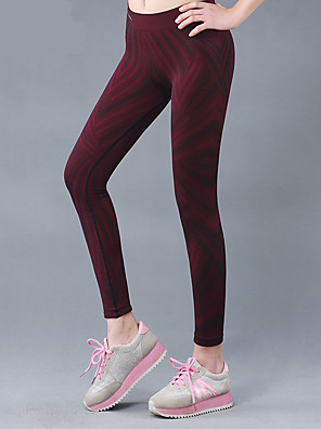 מכנסיים יוגה תחתיות נושם / ייבוש מהיר טבעי קשיחות בגדי ספורט חום לנשים אחרים יוגה / כושר גופני / מירוץ / רכיבה על אופניים / ריצה