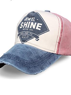 כובע לנשים / לגברים / יוניסקס נשימה / לביש ראש כדור בסיס לבן / ירוק / אדום / אפור / אפור כהה / שחור בד / ניילון אביב / קיץ / סתיו