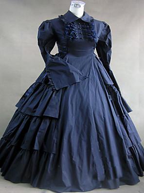 Jednodílné/Šaty Gothic Lolita / Sweet Lolita / Klasická a tradiční lolita / Punk Lolita Steampunk® Cosplay Lolita šaty Inkoustová modř