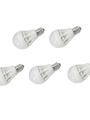 7W E26/E27 Lâmpada Redonda LED A60(A19) 12 SMD 5630 550 lm Branco Quente / Branco Frio AC 220-240 / AC 110-130 V 5 pçs