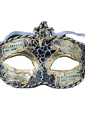 Máscara Fantasias Festival/Celebração Trajes da Noite das Bruxas Preto Estampado Máscara Dia Das Bruxas Feminino PVC
