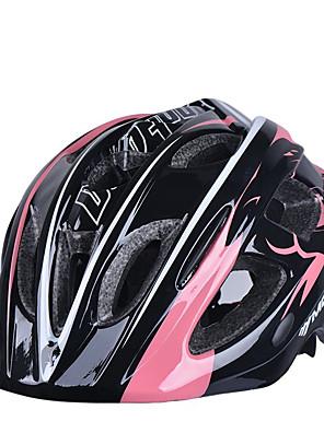 Měsíc dětské 17 otvory eps + pc růžová + černá integrálně tvarovaná jízda na kole přilbu (52 až 55 cm)