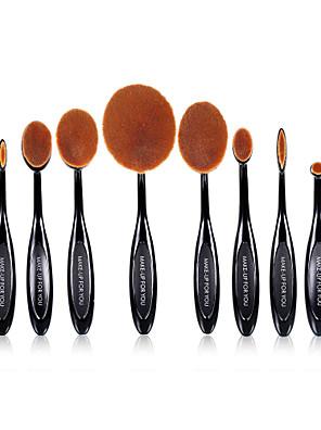 10 סטי מברשת שיער סינטטי מקצועי / כיסוי מלא Plastic פנים / עין / שפה MAKE-UP FOR YOU
