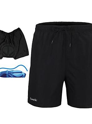 SANTIC® מכנס קצר לרכיבה לגברים נושם / ייבוש מהיר / 3D לוח / ללא חשמל סטטי / מפחית שפשופים אופנייםמכנסיים קצרים / מכנסיים קצרים הלבשה