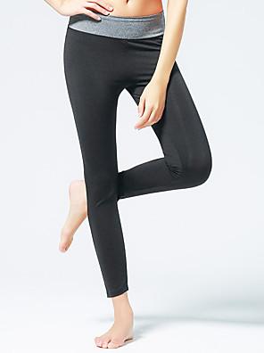 Corrida Calças / Fundos Mulheres Respirável / Elástico / Redutor de Suor Poliéster / ElastanoIoga / Pilates / Exercicio e Fitness /