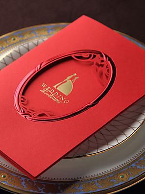 Személyre szabott Tri-Fold Esküvői Meghívók Meghívók / Eljegyzési meghívók-50 Darab / készlet Művészeti stílus Kartonpapír