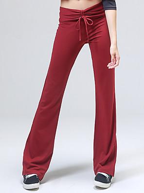מכנסיים יוגה מכנסיים נושם / תומך זיעה טבעי מתיחה בגדי ספורט אדום / שחור לנשים אחריםיוגה / טקוונדו / כושר גופני / ספורט פנאי / בדמינטון /