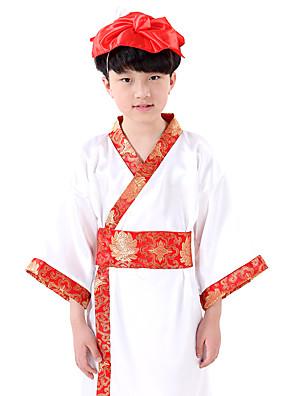 הופעות שמלות בגדי ריקוד ילדים ביצועים כותנה דפוס / הדפסה חלק 1 שרוול ארוך שמלות XS:58cm S:63cm M:68cm L:72cm XL:77cm 2XL:80cm