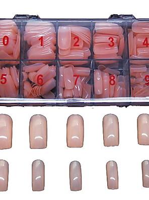 500 Stück Fleshcolor falsche voller Nagelspitzen abdecken Dekoration für Fingerspitzen Acryl