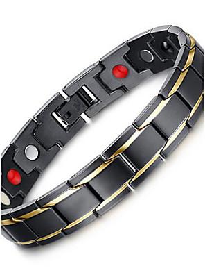 Armbanden Armbanden met ketting en sluiting Roestvast staal Dagelijks / Causaal Sieraden Geschenk Zwart,1 stuks