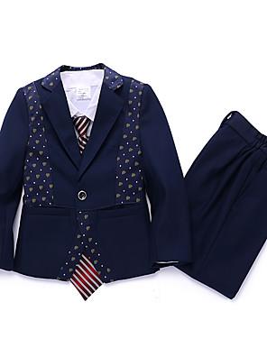 תערובת פוליאסטר / כותנה חליפה לנושא הטבעת - 3 חתיכות כולל ג'קט / וסט / מכנסיים