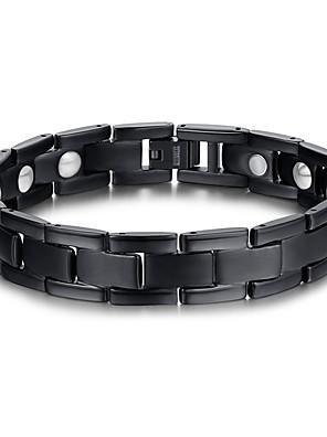 Armbanden Armbanden met ketting en sluiting Titanium Staal Magneettherapie Dagelijks / Causaal Sieraden Geschenk Zwart,1 stuks