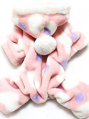Gatos / Cães Camisola com Capuz / Calças Rosa Roupas para Cães Inverno Corações Casamento / Fantasias
