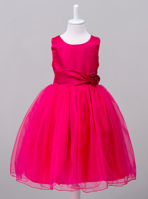 Girl's Party/Cocktail Solid Dress,Polyester Summer Green / Purple / Red