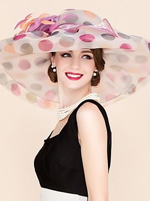 נשים אורגנזה כיסוי ראש-חתונה / אירוע מיוחד / קז'ואל קישוטי שיער / כובעים חלק 1