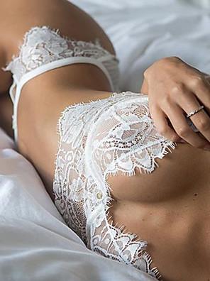 Ženy Krajkové prádlo Noční prádlo Sexy / KrajkaKrajka Bílá / Černá Dámské