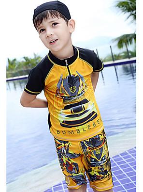 בגדי ים טלאים פוליאסטר קיץ הילד של
