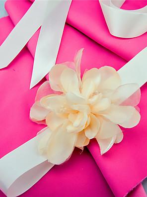 Satin Bryllup / Fest/aften / Hverdag Sash-Applikationsbroderi / Blomster Dame 98.5 tommer (ca. 250cm) Applikationsbroderi / Blomster