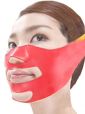 japonês material mágico 3d massagem máscara face-lift plástico silicone