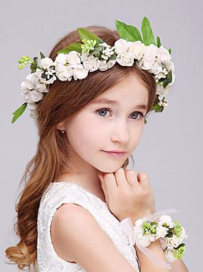Menina das Flores Espuma Capacete-Casamento / Ocasião Especial Flores 2 Peças