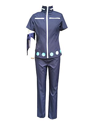 קיבל השראה מ One Piece Roronoa Zoro אנימה תחפושות קוספליי חליפות קוספליי אחיד כחול עליון / מכנסיים / אביזר לשיער / שרוול / כפפות