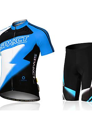 SPAKCT® Camisa com Shorts para Ciclismo Homens Manga Curta MotoSecagem Rápida / Design Anatômico / Alta Respirabilidade (>15,001g) /