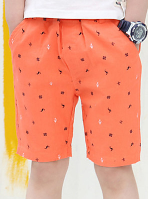 Boy's Casual/Daily Print Shorts,Cotton Summer Red / White