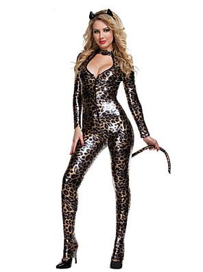 Cosplay Kostýmy / Kostým na Večírek Zvířecí / Bunny Girls Festival/Svátek Halloweenské kostýmy Černá - žlutá RetroLeotard/Kostýmový