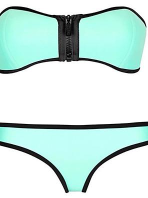 Egyszínű / Ρετρό Pánt nélküli Női Bikini Nejlon / Spandex