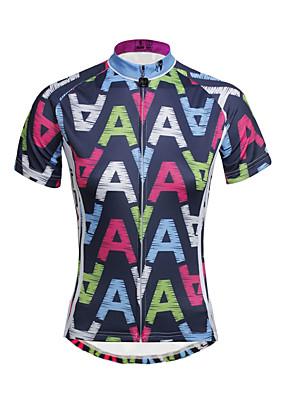 PALADIN® Camisa para Ciclismo Mulheres Manga Curta MotoRespirável / Secagem Rápida / Resistente Raios Ultravioleta / Tiras Refletoras /
