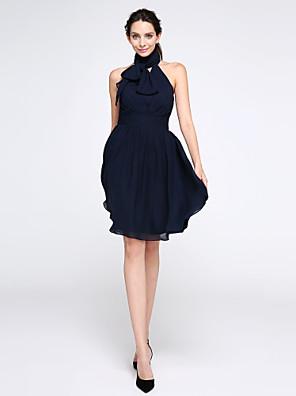 2017 ts couture® Cocktailparty Kleid a-line hohen Hals knielangen Chiffon mit Rüschen