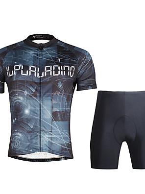 PALADIN® Camisa com Shorts para Ciclismo Homens Manga Curta MotoRespirável / Secagem Rápida / Resistente Raios Ultravioleta / Compressão