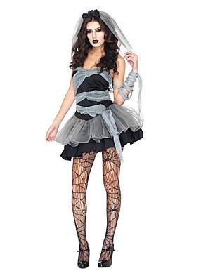 Cosplay Kostýmy / Kostým na Večírek Duch / Zombie / Upír Festival/Svátek Halloweenské kostýmy Černá / Šedá RetroŠaty / Ocas / Doplňky do