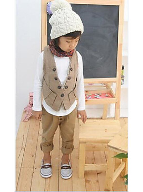 Boy's Casual/Daily Solid PantsCotton Winter / Spring / Fall Brown