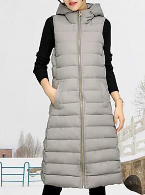 Ujjatlan Utcai sikk Női Sportos kabátok Kabát,Poliészter
